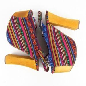 Jeffrey Campbell Multicolor The Big Girl Shoe 7.5M